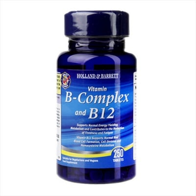 Vitamin B-complex and B12 250 tablets Holland & Barrett / Витамин Б комплекс + Б12 250 таблетки Holland & Barrett