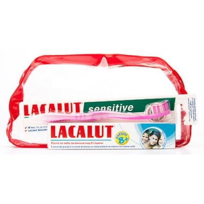 Lacalut set for kids 8+ - toothpaste + toothbrush / Лакалут комплект за деца над 8 г. - паста за зъби + четка за зъби