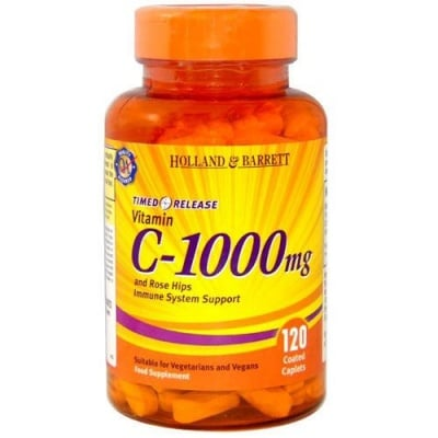 Vitamin C with timed release 1000 mg 120 caplets Holland & Barrett / Витамин Ц с удължено освобождаване 1000 мг 120 каплети Holland & Barrett