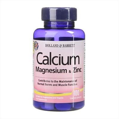 Calcium + Magnesium & Zinc 100 caplets Holland & Barrett / Калций + Магнезий + Цинк 100 каплети Holland & Barrett