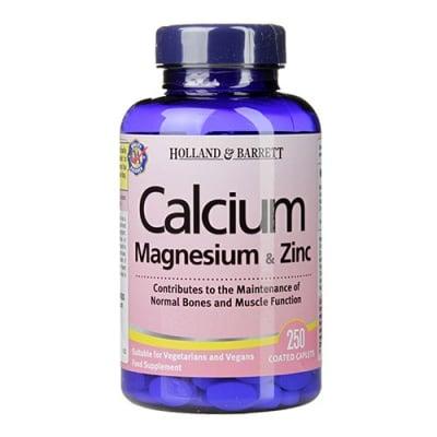 Calcium + Magnesium & Zinc 250 caplets Holland & Barrett / Калций + Магнезий + Цинк 250 каплети Holland & Barrett