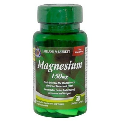 Magnesium 150 mg 30 tablets Holland & Barrett / Магнезий  150 мг 30 таблетки Holland & Barrett