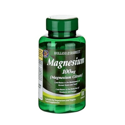 Magnesium citrate 100 tablets Holland & Barrett / Магнезиев цитрат 100 таблетки Holland & Barrett