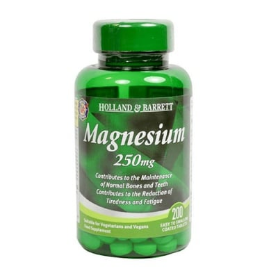 Magnesium 250 mg 200 tablets Holland & Barrett / Магнезий  250 мг 200 таблетки Holland & Barrett