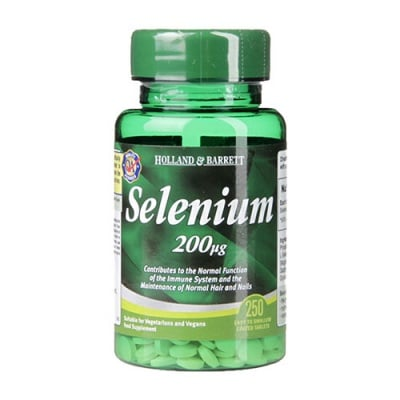 Selenium 200 mcg 250 tablets Holland & Barrett / Селен 200 мкг 250 таблетки Holland & Barrett