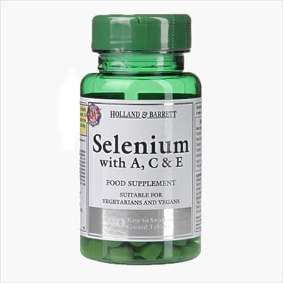 Selenium with vitamins A,C & E 90 tablets Holland & Barrett / Селен + витамини А, Ц и Е 90 таблетки Holland & Barrett