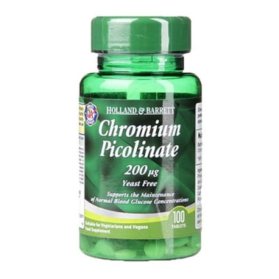 Chromium picolinate 200 mcg 100 tablets Holland & Barrett / Хром Пиколинат 200 мкг 100 таблетки Holland & Barrett
