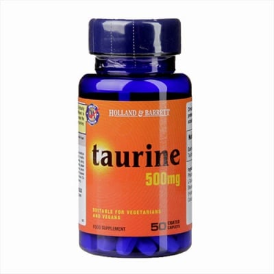 Taurin 500 mg 50 caplets Holland & Barrett / Таурин 500 мг 50 каплети Holland & Barrett