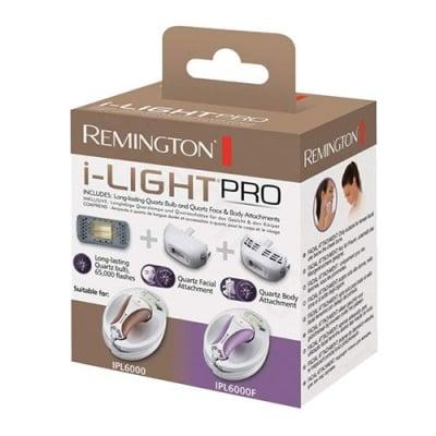 Remington replacement kit  / Ремингтон резервна лампа SP6000FQ + приставки за тяло и лице за фотоепилатор I-light Pro IPL6000 и IPL6000F