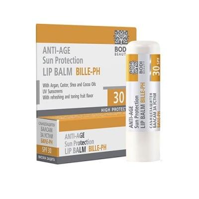 Bille-PH anti-age sun protection lip balm SPF30 4 g. / Биле-PH слънцезащитен балсам за устни SPF30 4 гр.