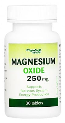 Magnesium oxide 250 mg. 30 tablets / Магнезиев оксид таблетки 250 мг. 30 таблетки Phyto Wave