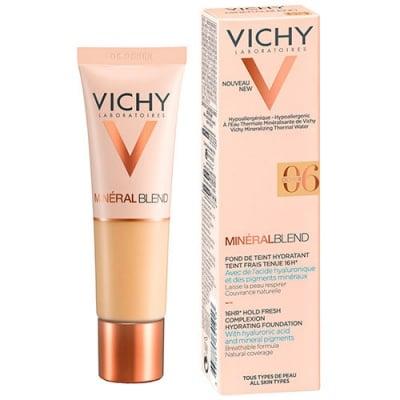 Vichy Mineralblend complexion hydrating foundation 06 Ocher 30 ml / Виши Минералбленд фон дьо тен 06 Ocher 30 мл