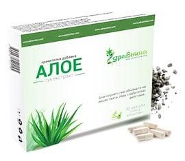 Aloe Vera Dry extract 30 capsules Zdravnitza / Алое Сух екстракт 30 броя капсули Здравница