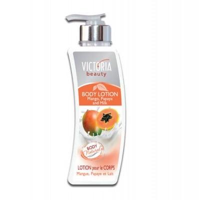 Victoria Beauty body lotion with mango, papaya and milk 400 ml / Виктория бюти лосион за тяло с манго и папая 400 мл
