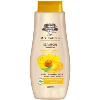 Mrs Potters`s shampoo arnika 500 ml / Мисис Потърс шампоан за мазна коса с арника 500 мл