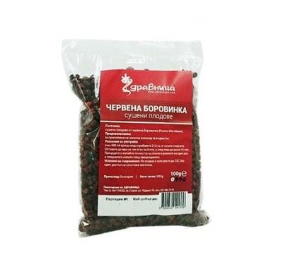 Cranberry dried fruits 100 g Zdravnitza / Червена боровинка - сушени плодове 100 гр. Здравница