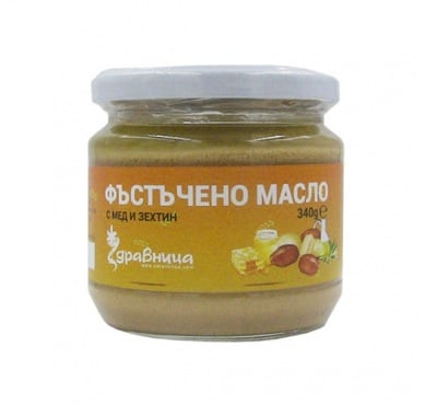 Peanut butter with honey & olive oil 340 g Zdravnitza / Фъстъчено масло с мед и зехтин 340 гр. Здравница