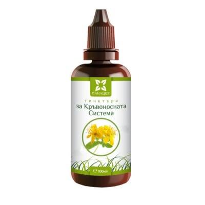 Panacea herbal tincture for blood circulation 100 ml / Панацея билкова тинктура за кръвоносната система 100 мл