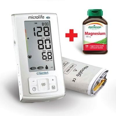 Digital device Microlife BP A6 Plus + gift Jamieson magnesium 100 mg 100 tablets / Електронен апарат за измерване на кръвно налягане Микролайф BP A6 Plus + подарък Джеймисън магнезий 100 мг 100 таблеки