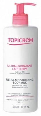 Topicrem Ultra-Moisturizing Body Milk / Ултра хидратираща емулсия за тяло, Мляко: 500 ml.