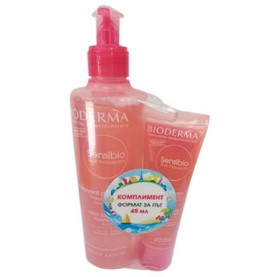 Bioderma Sensibio set - gel moussant 200 ml + 45 ml / Биодерма Сенсибио комплект гел мусант 200 мл + 45 мл
