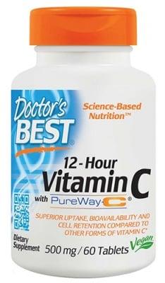 Doctor's Best Vitamin C 12 hour 500 mg 60 tablets / Доктор'с Бест Витамин Ц 12 часа 500 мг. 60 таблетки