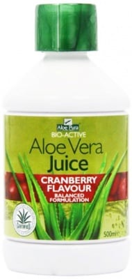 Aloe Pura Aloe Vera Juice Cranberry flavour 500 ml. Optima / Алое Вера Сок от Боровинка 500 мл. Оптима