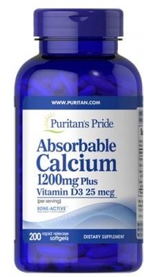 Puritan's Pride Calcium plus vitamin D3 200 capsules / Пуританс Прайд Калций и Витамин Д3 200 капсули