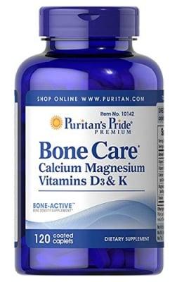Puritan's Pride Bone care 120 caplets / Пуританс Прайд Боун кеър 120 каплети