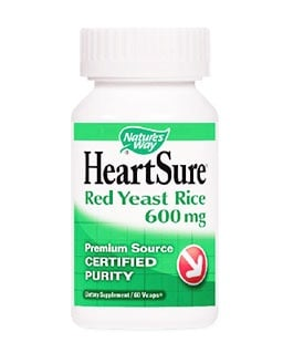 Heart sure red yeast rice 600 mg. 60 capsules Nature's Way / Здраво сърце 600 мг. 60 капсули Nature's Way