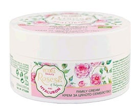 Victoria beauty Rose and Hyaluron family cream 200 ml. / Виктория бюти Роза и Хиалурон крем за цялото семейство 200 мл.