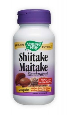 Shiitake and Maitake 400 mg 60 capsules Nature's Way / Шийтаке и Майтаке 400 мг. 60 капсули Nature's Way