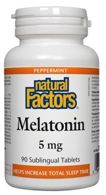 Melatonin 5 mg 90 tablets Natural Factors / Мелатонин 5 мг. 90 таблетки Натурал Факторс