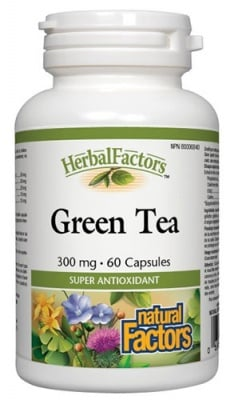 Green tea 300 mg 60 capsules Natural Factors / Зелен чай 300 мг. 60 капсули Натурал Факторс