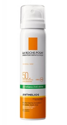 La Roche ANTHELIOS SPF 50 anti-shine invisible fresh mist 75 ml. / Ла Рош АНТЕЛИОС SPF 50 матиращ прозрачен слънцезащитен спрей мист за лице 75 мл.