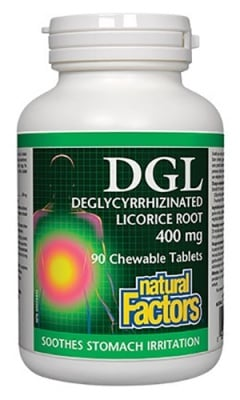 DGL 90 chewable tablets Natural Factors / Ди Джи Ел 90 дъвчащи таблетки Натурал Факторс