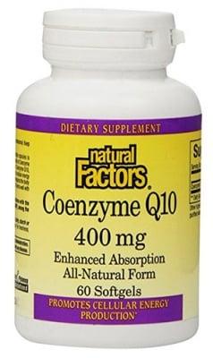 Coenzyme Q10 400 mg 60 capsules Natural Factors / Коензим Q10 400 мг. 60 капсули Натурал Факторс