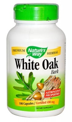 White oak 480 mg 100 capsules Nature's Way / Бял дъб кора 480 мг. 100 капсули Nature's Way