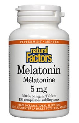 Melatonin 5 mg 180 tablets Natural Factors / Мелатонин 5 мг. 180 таблетки Натурал Факторс