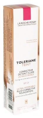 La Roche Toleriane Fondation 10 Ivory / Ла Рош Позе Толериан Тейнт Коригиращ Фон Дьо Тен Флуид SPF 25 Слонова кост 10 30 мл.