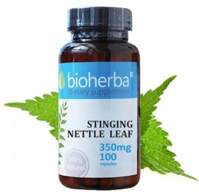 Bioherba Stinging nettle leaf 350 mg 100 capsules / Биохерба Коприва 350 мг. 100 капсули