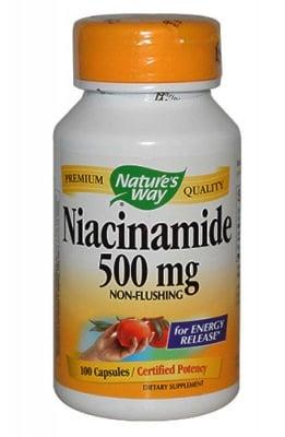 Niacinamide 500 mg 100 capsules Nature`s way / Ниацин 500 мг 100 капсули Nature`s way