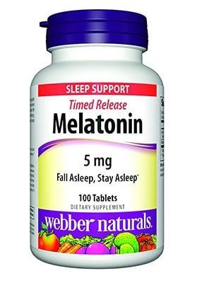 Melatonin TR 5 mg 60 tablets  Webber Naturals / Мелатонин TR 5 мг 60 таблетки Уебър Натуралс