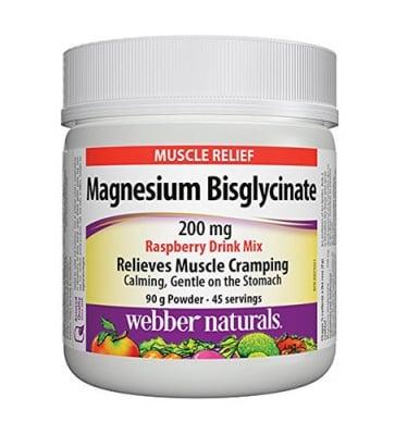 Magnesium bisglycinate powder 90 g Webber Naturals / Магнезий бисглицинат пудра 90 гр. Уебър Натуралс