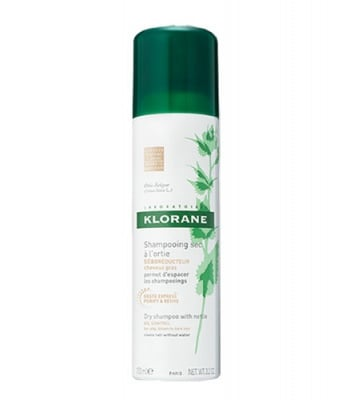 Klorane day shampoo with nettle extract for brown and dark hair 150 ml / Клоран сух шампоан с коприва за кестенява и тъмнокестенява коса 150 мл