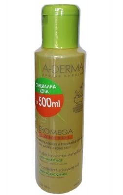 A-Derma Exomega control shower oil 500 ml. / А-Дерма Екзомега контрол душ олио 500 мл.