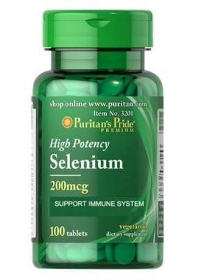 Puritan`s pride selenium 200 mcg 100 tablets / Пуританс Прайд Селен 200 мкг. 100 таблетки