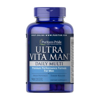 Puritan`s Pride ultra vita man daily multy 90 caplets / Пуританс прайд ултра вита мен 90 каплети