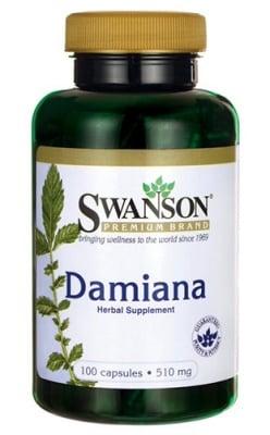 Swanson Damiana 510 mg 100 capsules / Суонсън Дамяна 510 мг. 100 капсули