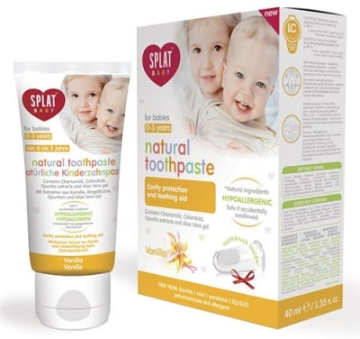 Toothpaste Splat Baby from 0 to 3 years old with Vanilla flavor 40 ml. / Паста за зъби Сплат Бебе от 0 до 3 год. с вкус на Ванилия 40 мл.